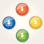 Download Circular Vector Colorful Web Icon Set Button