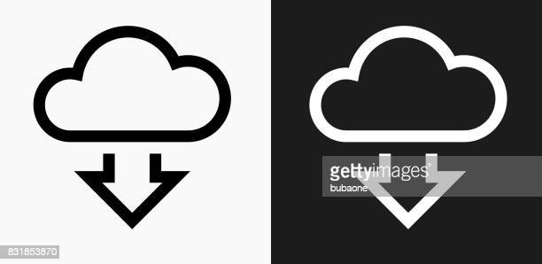 Download Cloud Icon on Black and White Vector Backgrounds