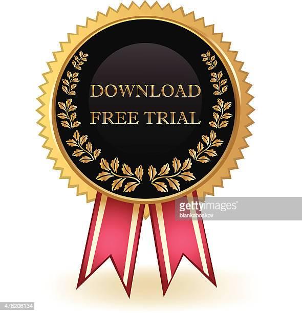 download free trial badge - criação digital stock illustrations