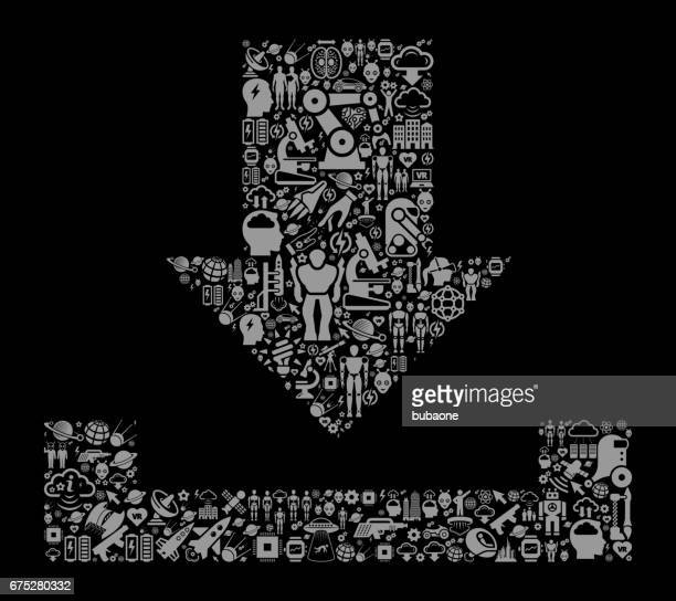 Download  Future and Futuristic Technology Black Icon Background
