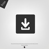 Download icon. Vector illustration sign