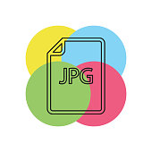 download JPG document icon - vector file format