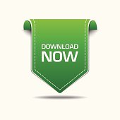 Download Now Green Label Icon Vector Design
