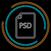 download PSD document icon - vector file format