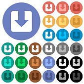 Download round flat multi colored icons