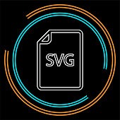 download SVG document icon - vector file format