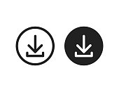 Download vector icon install symbol. Simple flat isolated vector illustration or sign for web site or mobile app.