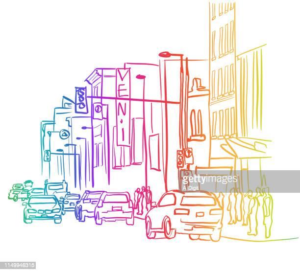 Downtown Revival Street Rainbow