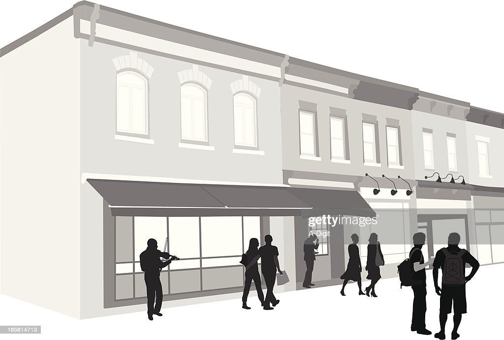 Downtown Vector Silhouette