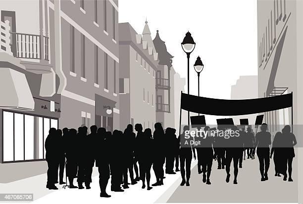 downtownrally - striker stock illustrations