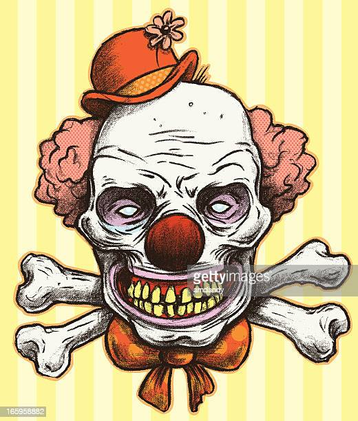 illustrations, cliparts, dessins animés et icônes de dr. skeleclown - clown