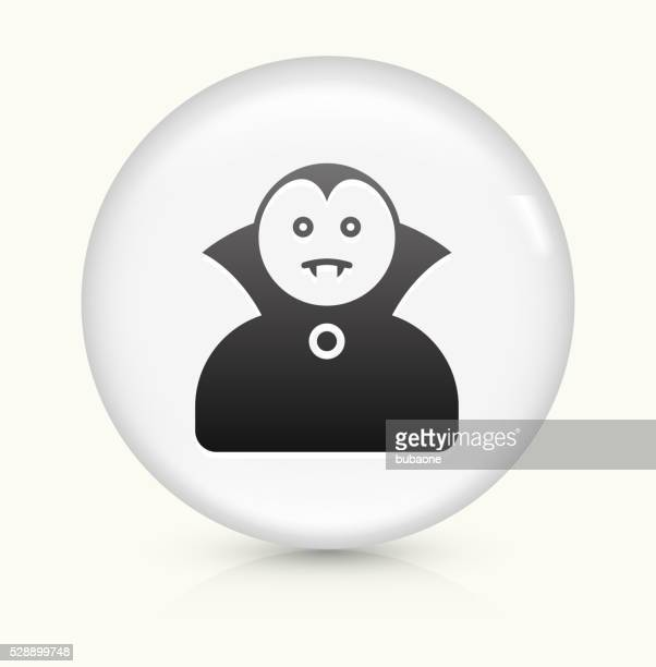 Dracula Halloween Costume icon on white round vector button