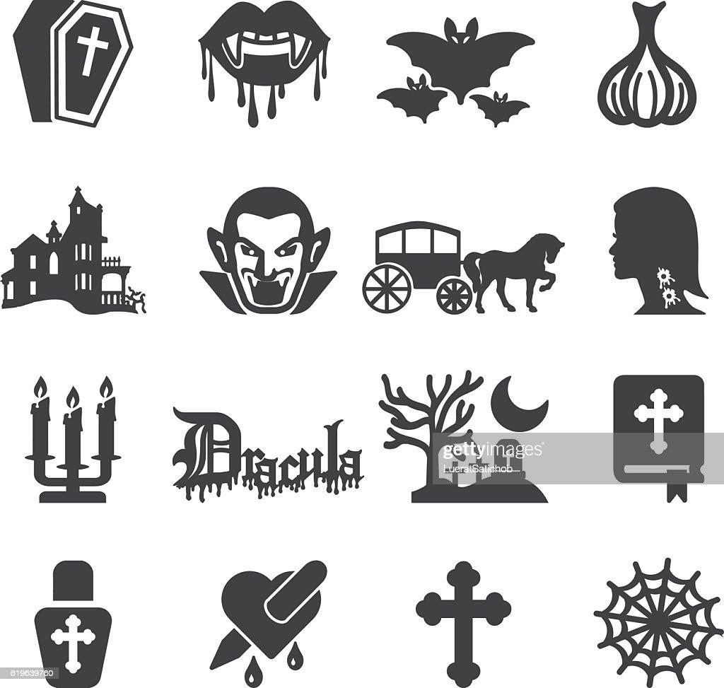 Dracula Silhouette Icons | EPS10