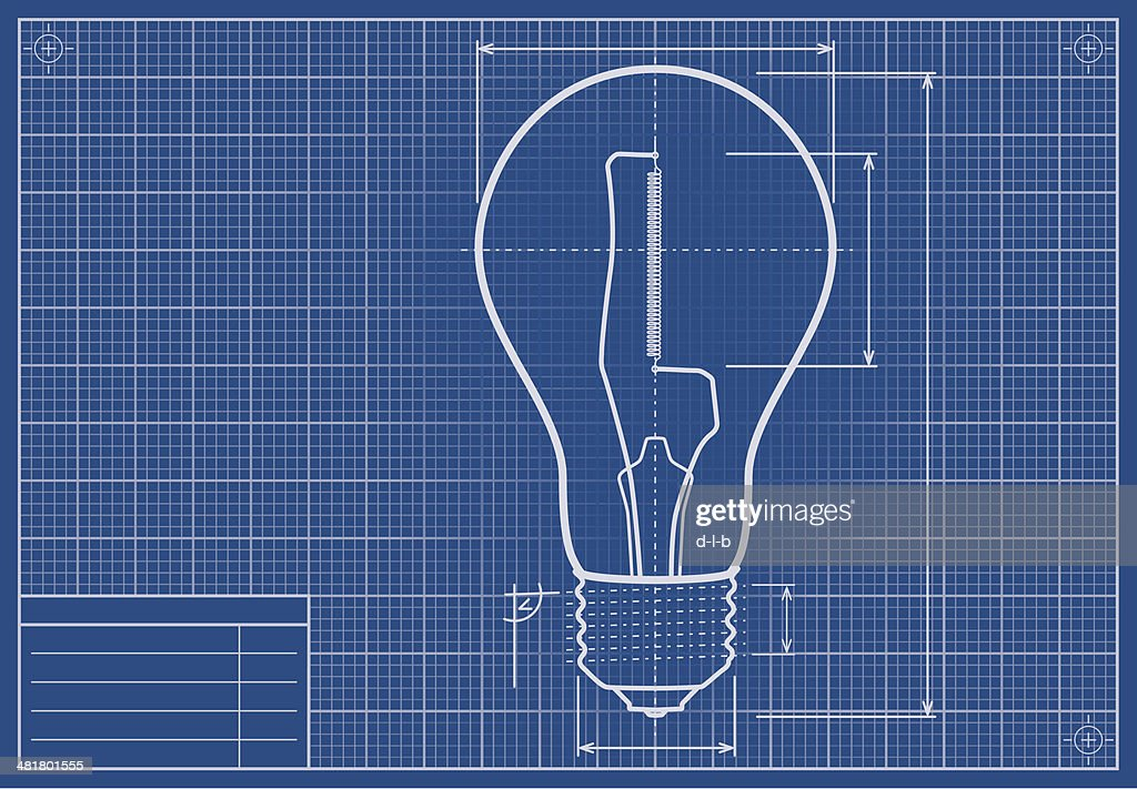 Drafted light bulb on blueprint paper vector art getty images drafted light bulb on blueprint paper vector art malvernweather