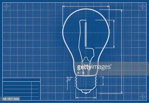 Blank blueprint paper vector art getty images keywords malvernweather Images