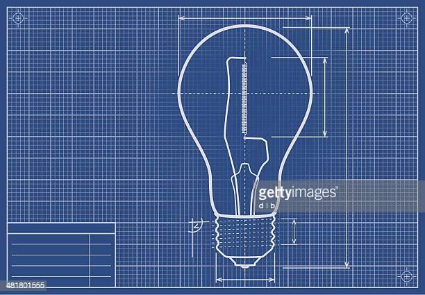 ドラフト電球紙に位置 - 知的財産点のイラスト素材/クリップアート素材/マンガ素材/アイコン素材