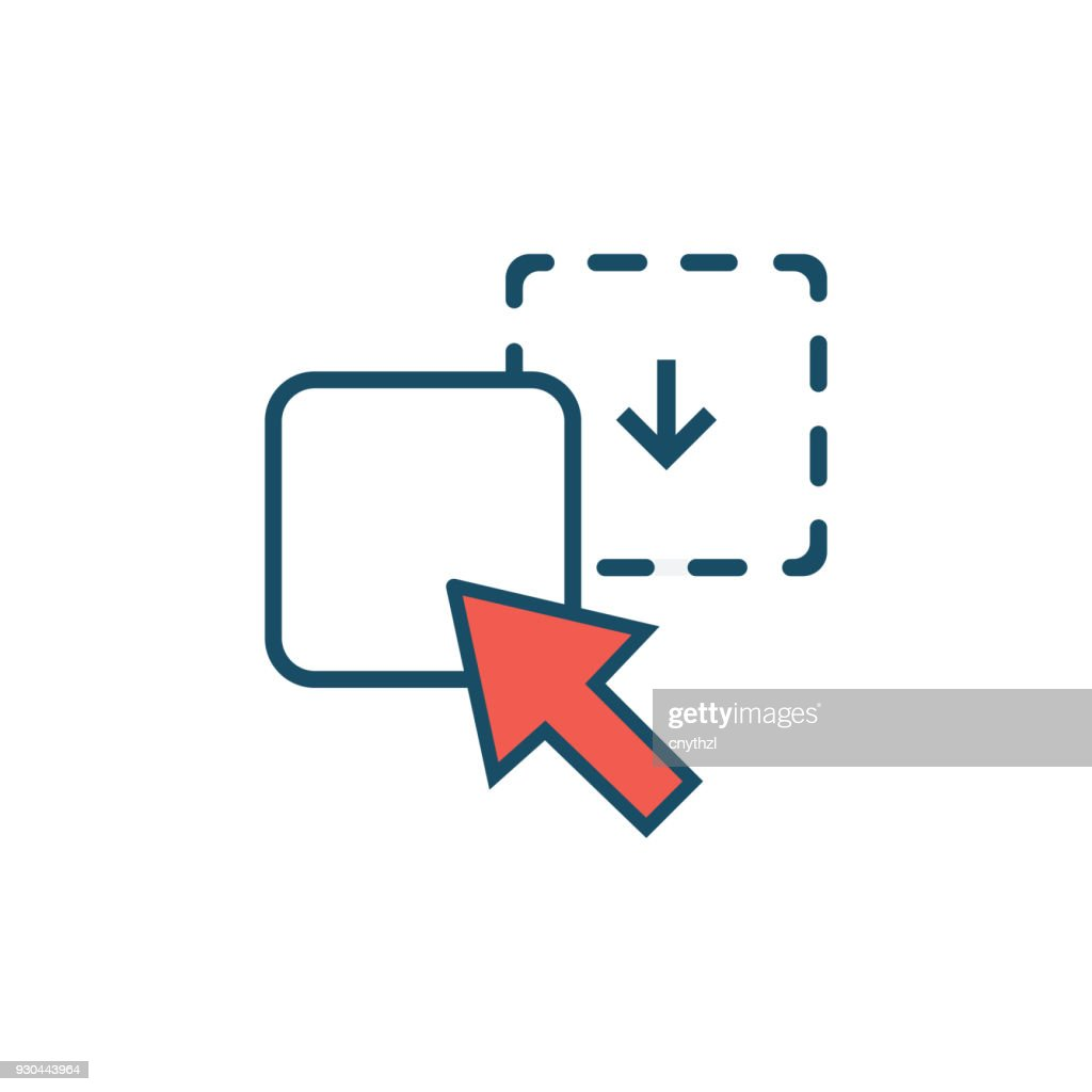 drag and drop icon vector art getty images
