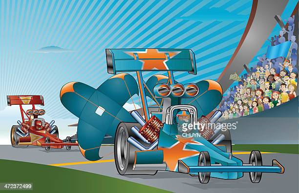 Drag Racing Stock Illustrations And Cartoons Getty Images