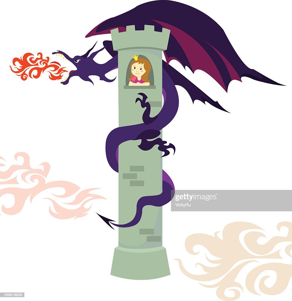 Dragon and the Princess in the Tower