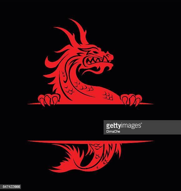 illustrations, cliparts, dessins animés et icônes de dragon bannière - carpe