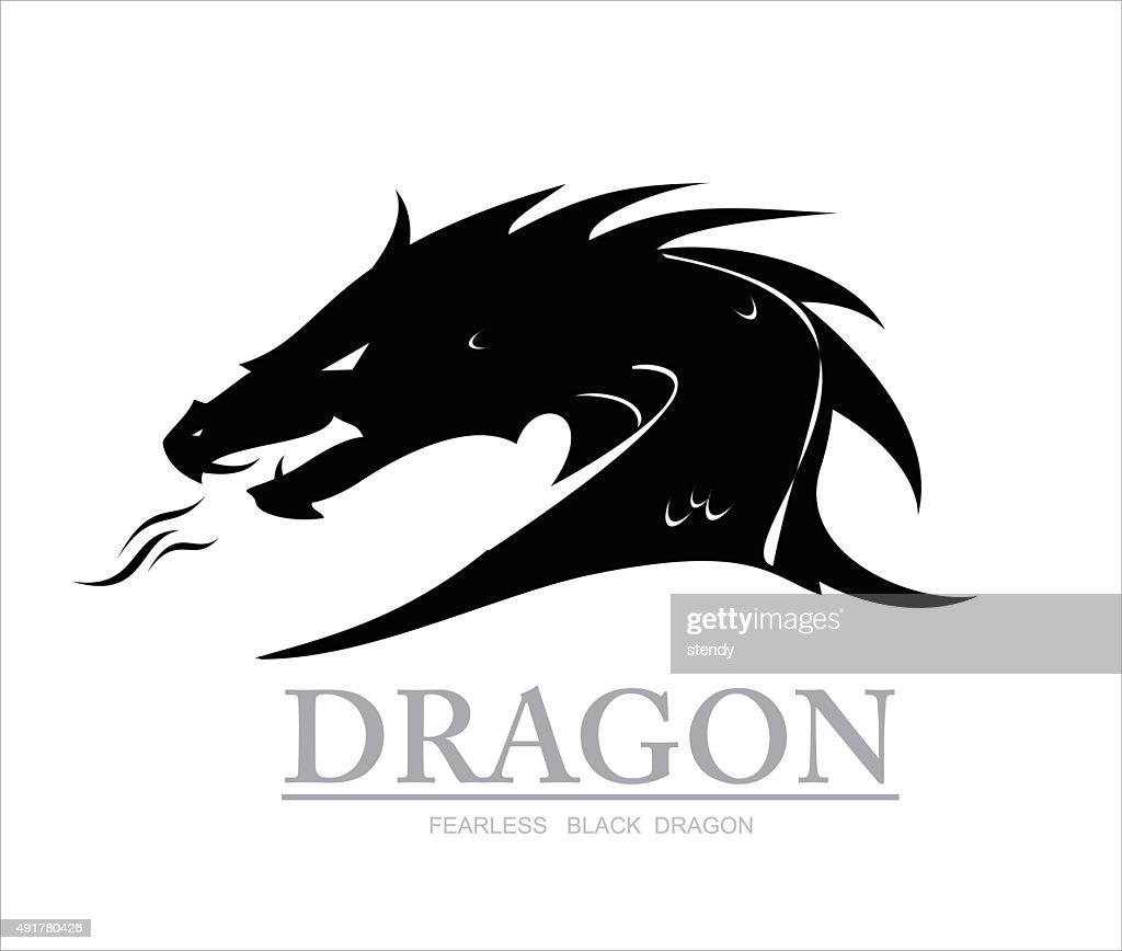 dragon, black dragon. dragon head