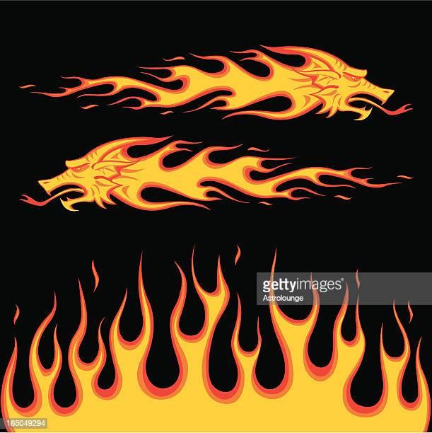 dragon burning fire