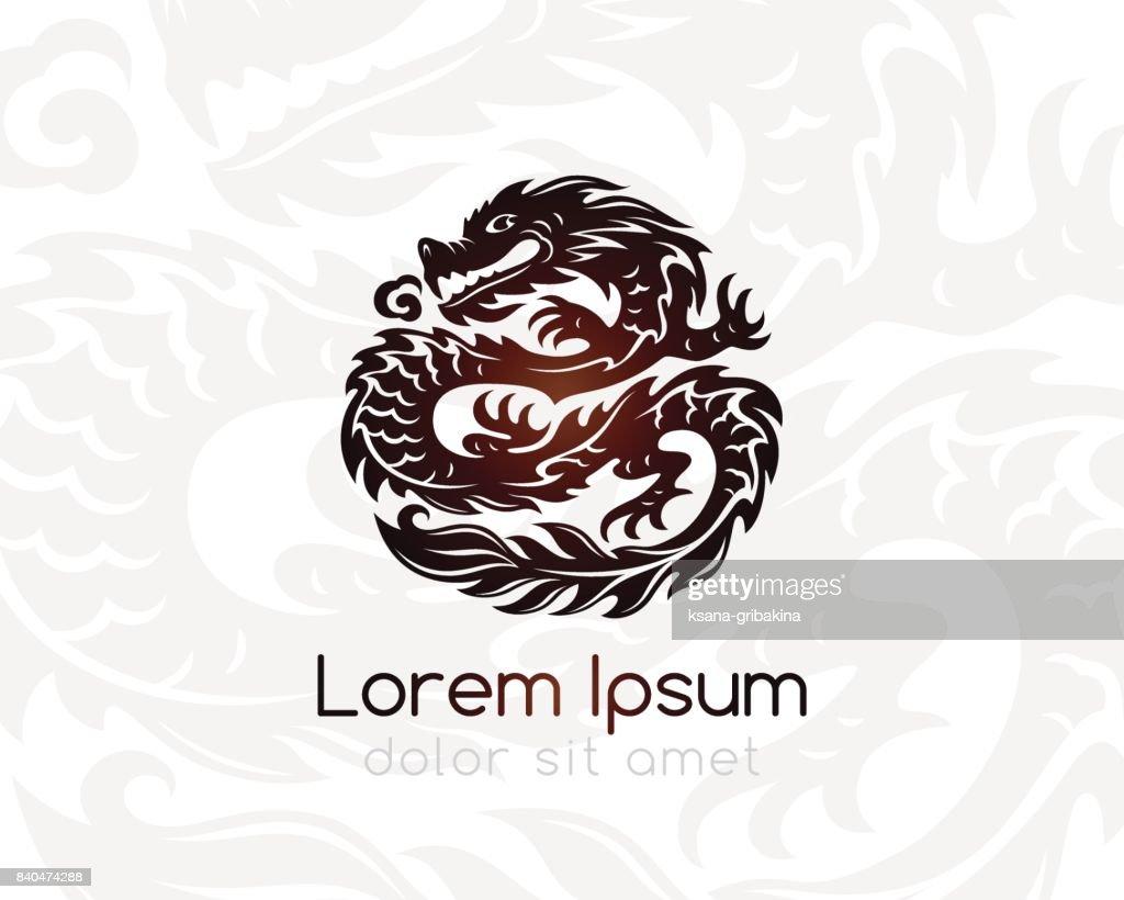 Dragon emblem template.