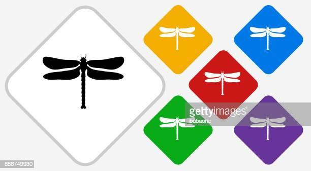 Dragon Fly Farbe Diamant Vektor Icon