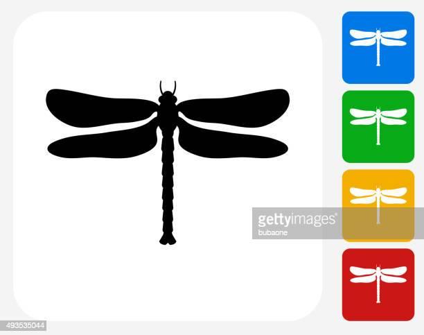 Libelle-Symbol flache Grafik Design