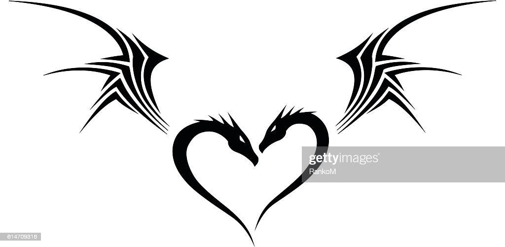 Dragon Heart Tribal Tattoo