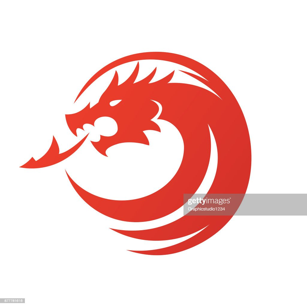 Dragon icon - Vector illustration