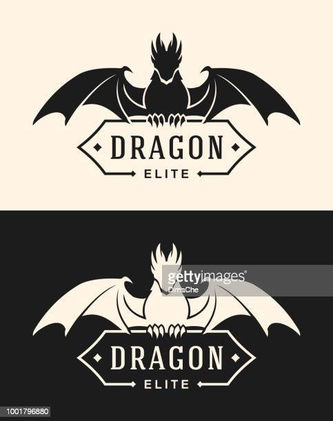 Dragon icon with banner
