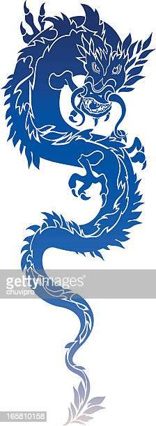 Dragon en color azul