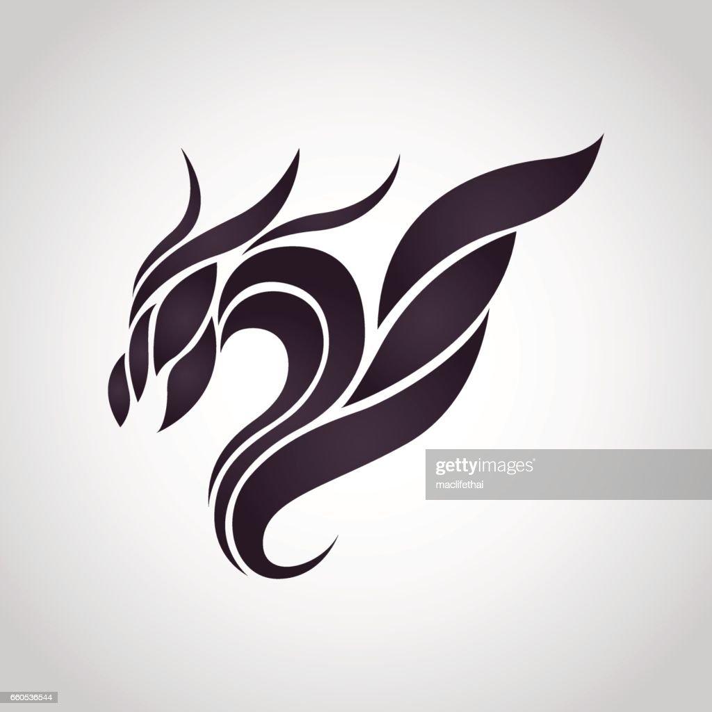Dragon logo vector icon design