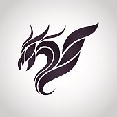 Dragon logo vector icon design