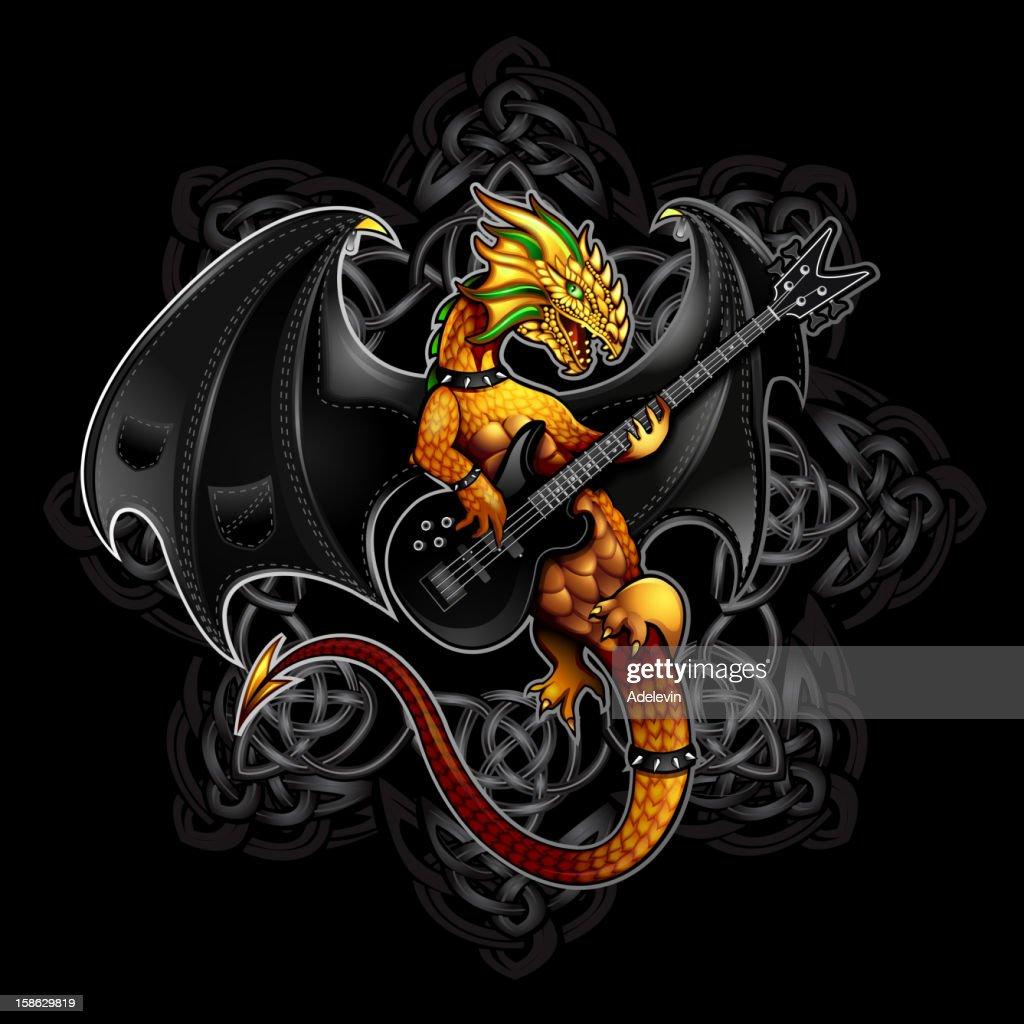 Dragon rock symbol