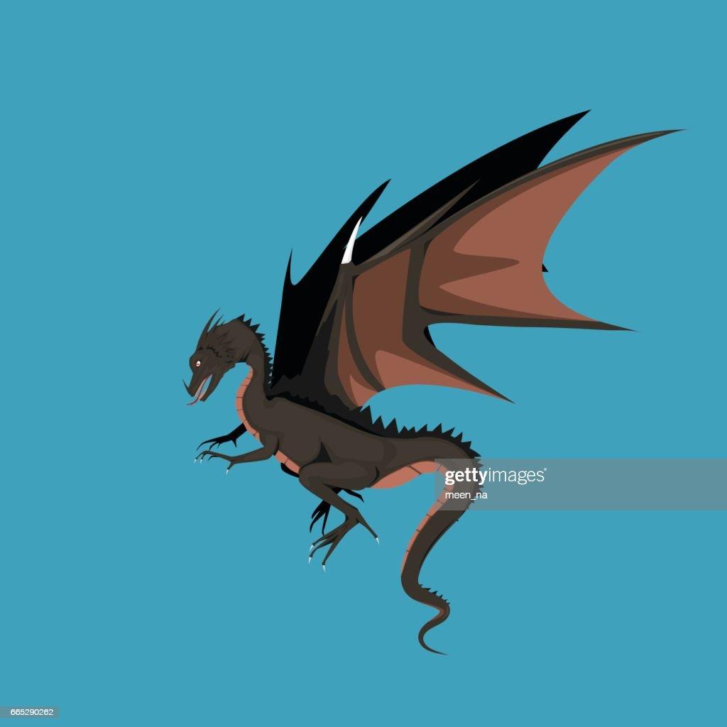 Dragon sign - vector illustration
