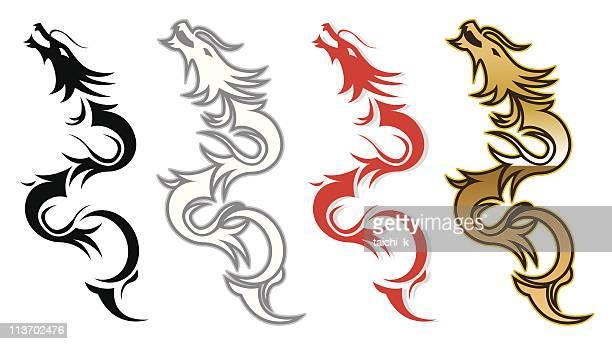 Dragon silueta