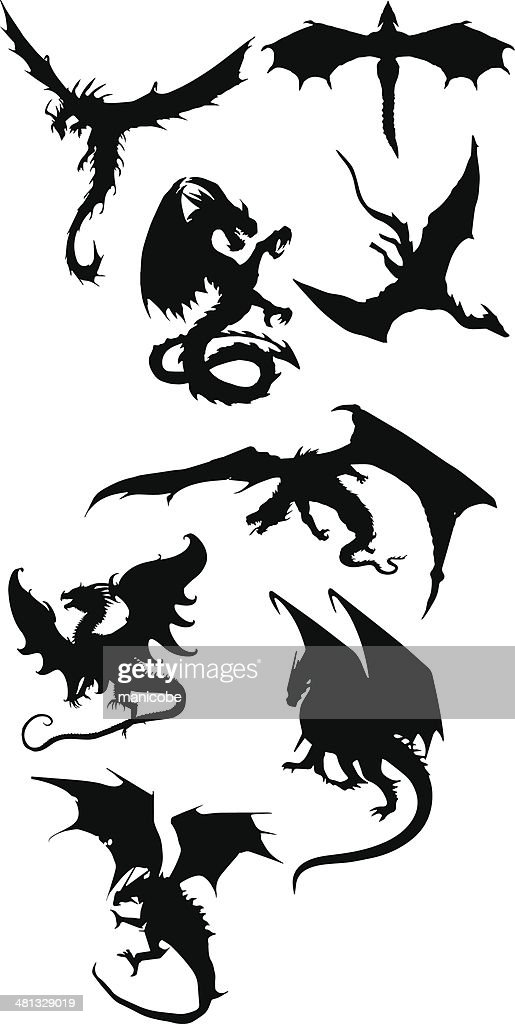 Dragon silhouettes