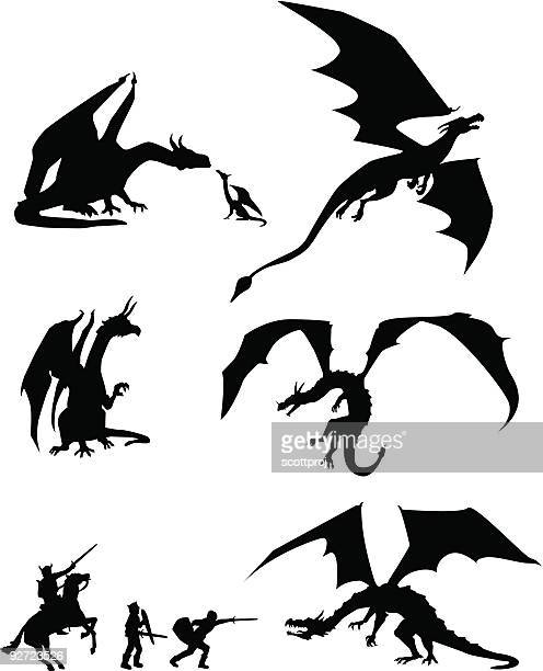 Siluetas de dragón