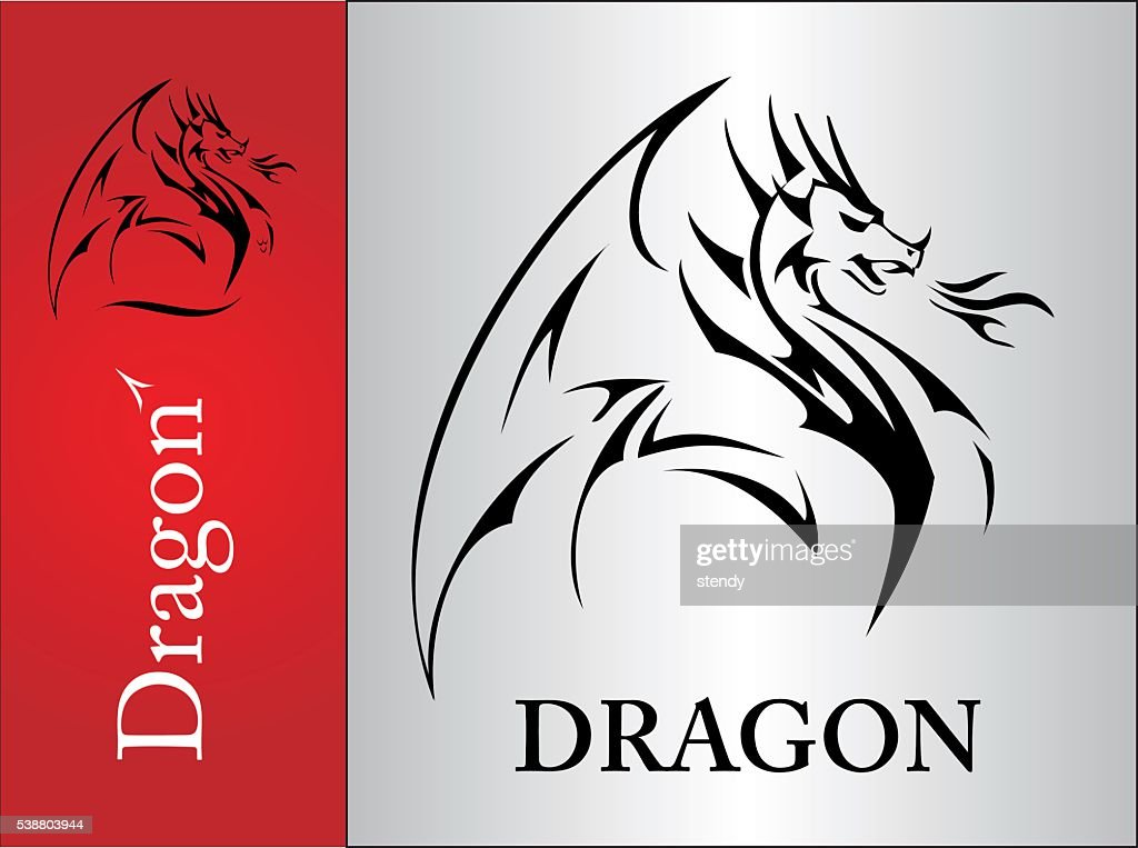 Dragon, spreading its wing
