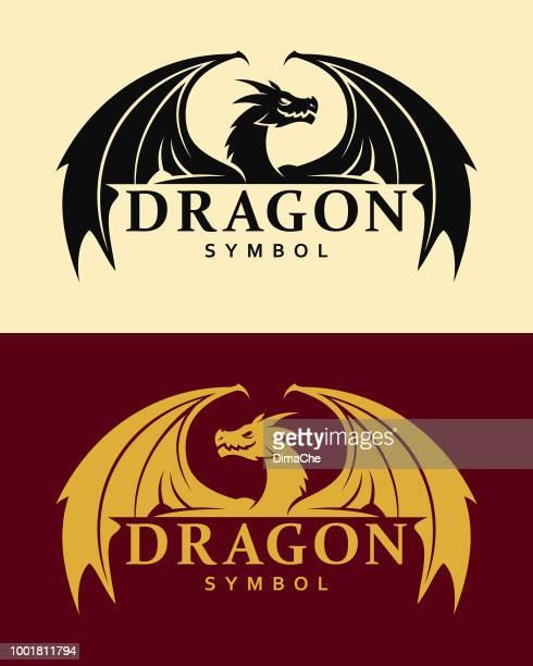 dragon symbol - dragon stock illustrations