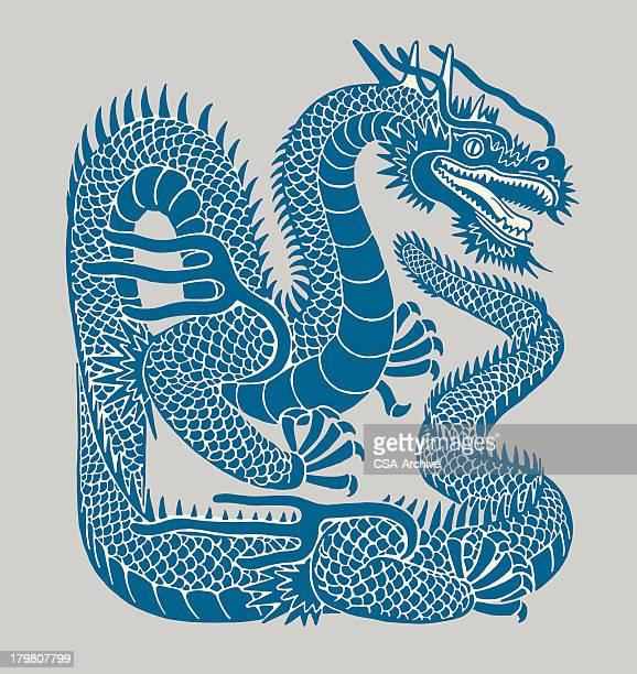 illustrations, cliparts, dessins animés et icônes de dragon - un seul animal