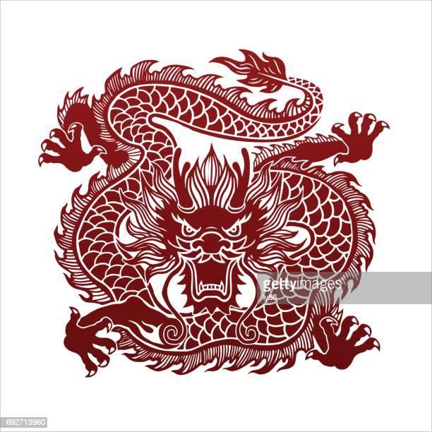 dragon - chinese dragon stock illustrations