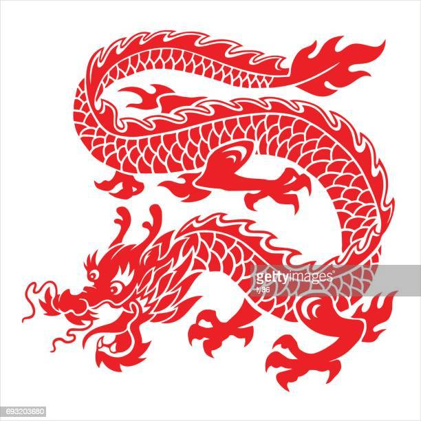 dragon - chinese zodiac sign stock illustrations, clip art, cartoons, & icons