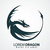 dragon vector silhouette
