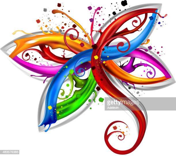 dragonfly art concept - odonata stock illustrations, clip art, cartoons, & icons