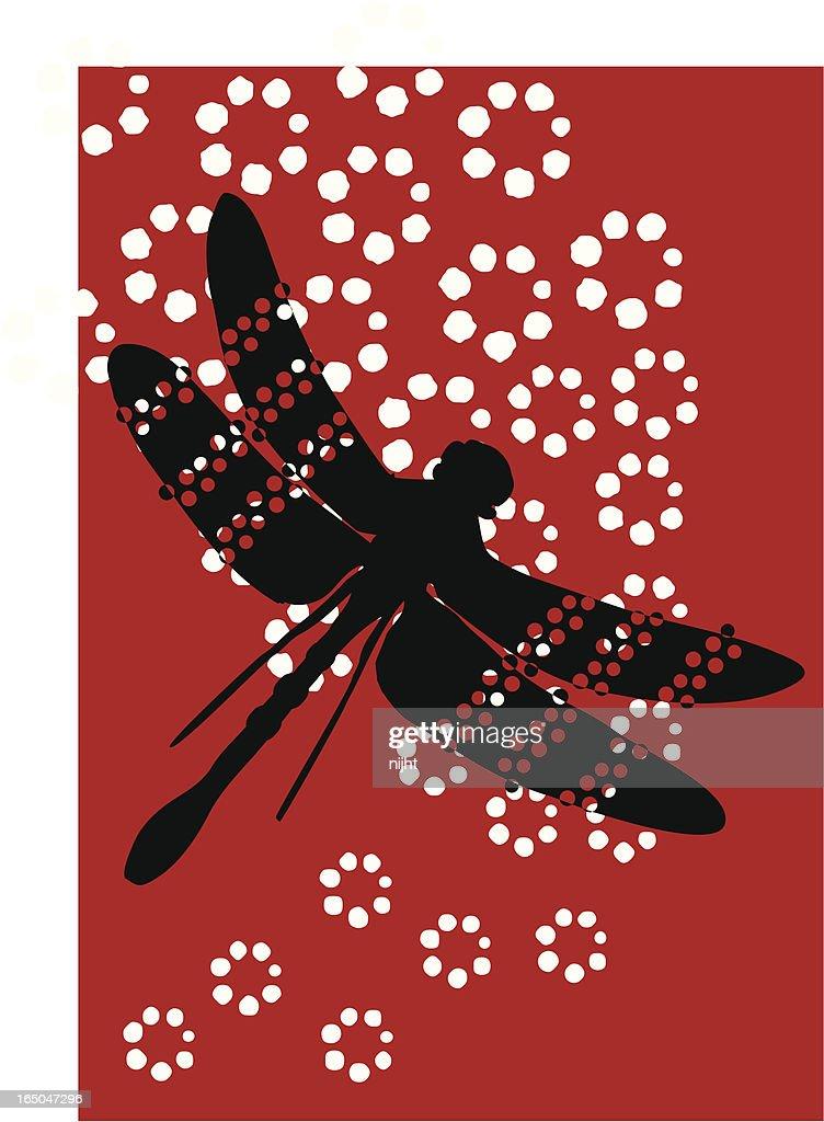 Dragonfly Polka : stock illustration