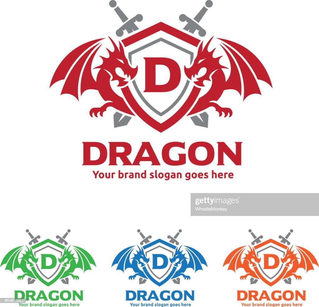 Dragons Shield with Swords icon