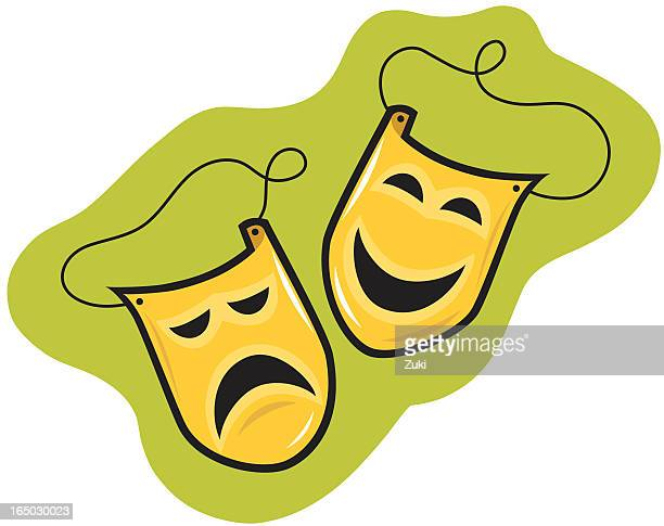drama and comedy - actor stock illustrations, clip art, cartoons, & icons